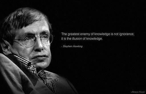 Picture and quote from Stephen Hawking. This in support of the topic of Artificial Intelligence
